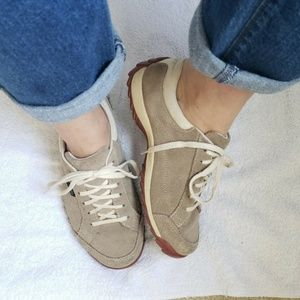 SIMPLE Suede Sneakers Oatmeal Natural Sneakers